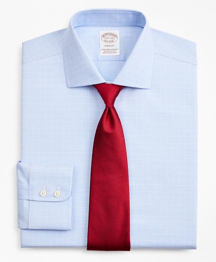 Stretch Soho Extra-Slim-Fit Dress Shirt, Non-Iron Royal Oxford English Collar Glen Plaid