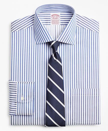 Stretch Madison Classic-Fit Dress Shirt, Non-Iron Twill English Collar Bold Stripe
