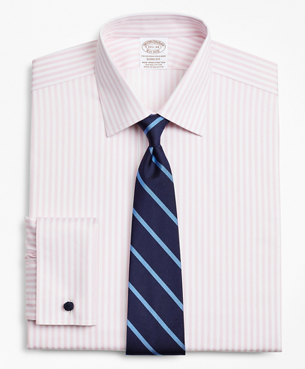 Stretch Soho Extra-Slim-Fit Dress Shirt, Non-Iron Twill Ainsley Collar French Cuff Bold Stripe