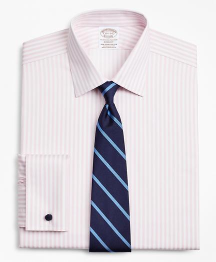 Stretch Soho Extra-Slim-Fit Dress Shirt, Non-Iron Twill Ainsley Collar French Cuff Bold Stripe