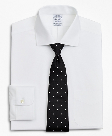 Stretch Regent Fitted Dress Shirt, Non-Iron Poplin English Collar