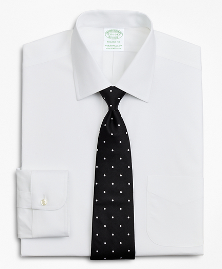 Stretch Milano Slim-Fit Dress Shirt, Non-Iron Poplin Ainsley Collar