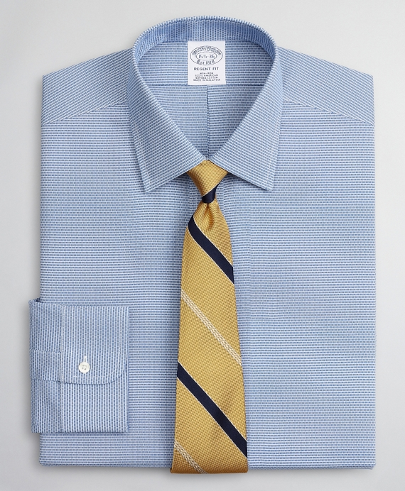 Regent Regular-Fit Dress Shirt, Non-Iron Dobby Ainsley Blue