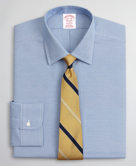 Madison Relaxed-Fit Dress Shirt, Non-Iron Dobby Ainsley Blue