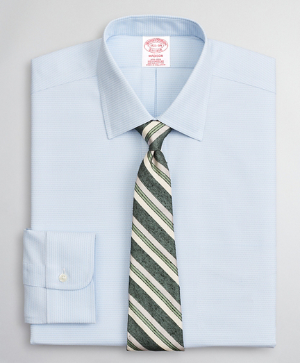 Brooksbrothers Madison Classic-Fit Dress Shirt, Non-Iron Dobby Ainsley