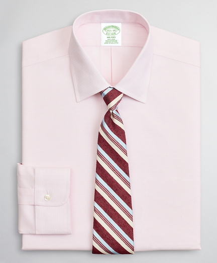 Brooksbrothers Milano Slim-Fit Dress Shirt, Non-Iron Dobby Ainsley
