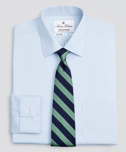 Regent Regular-Fit Dress Shirt, Performance Non-Iron with COOLMAX®, Ainsley Collar Twill Check
