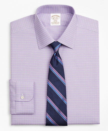 Stretch Soho Extra-Slim-Fit Dress Shirt, Non-Iron Royal Oxford Ainsley Collar Check