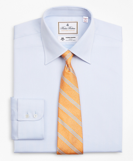 Luxury Collection Madison Classic-Fit Dress Shirt, Franklin Spread Collar Herringbone