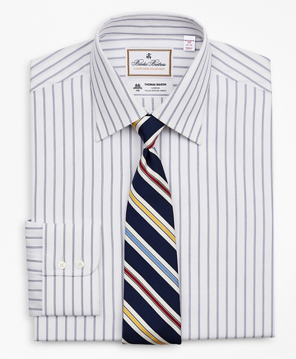 Luxury Collection Madison Classic-Fit Dress Shirt, Franklin Spread Collar Micro-Outline Stripe