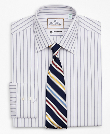 Luxury Collection Milano Slim-Fit Dress Shirt, Franklin Spread Collar Micro-Outline Stripe