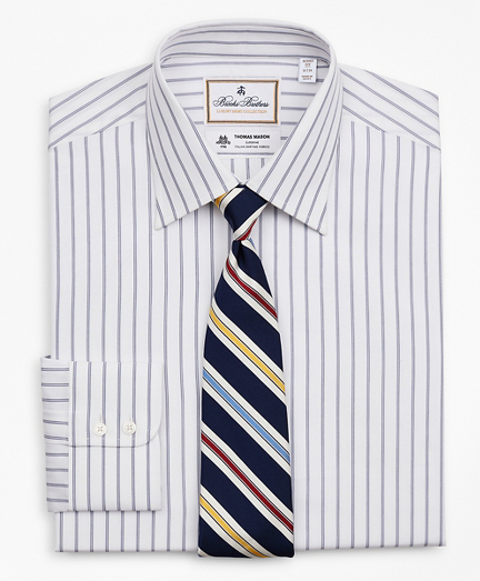 Luxury Collection Soho Extra-Slim-Fit Dress Shirt, Franklin Spread Collar Micro-Outline Stripe