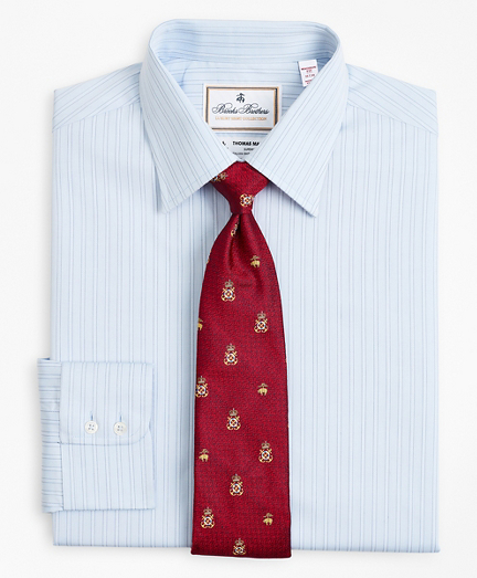 Luxury Collection Madison Classic-Fit Dress Shirt, Franklin Spread Collar Textured Stripe