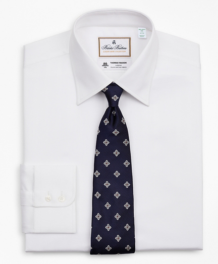 Luxury Collection Milano Slim-Fit Dress Shirt, Franklin Spread Collar Herringbone
