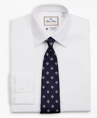 Luxury Collection Regent Fitted Dress Shirt, Franklin Spread Collar Herringbone