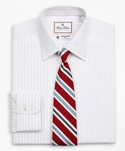 Luxury Collection Regent Fitted Dress Shirt, Franklin Spread Collar Stripe