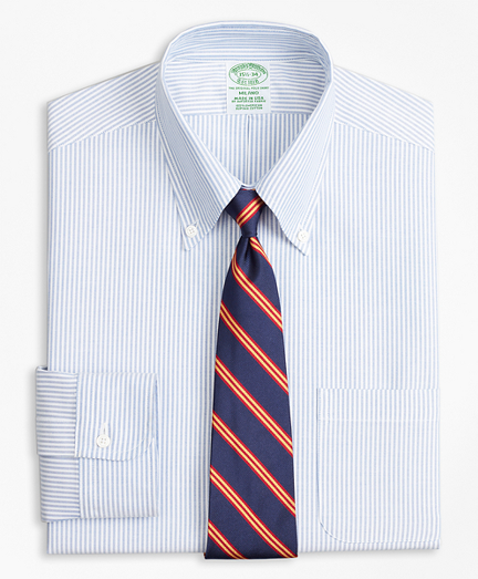Original Polo® Button-Down Oxford Milano Slim-Fit Dress Shirt, Bengal Stripe