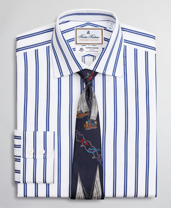 Luxury Collection Regent Fitted Dress Shirt, Franklin Spread Collar Double Stripe