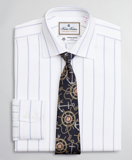 Luxury Collection Madison Relaxed-Fit Dress Shirt, Franklin Spread Collar Pinstripe