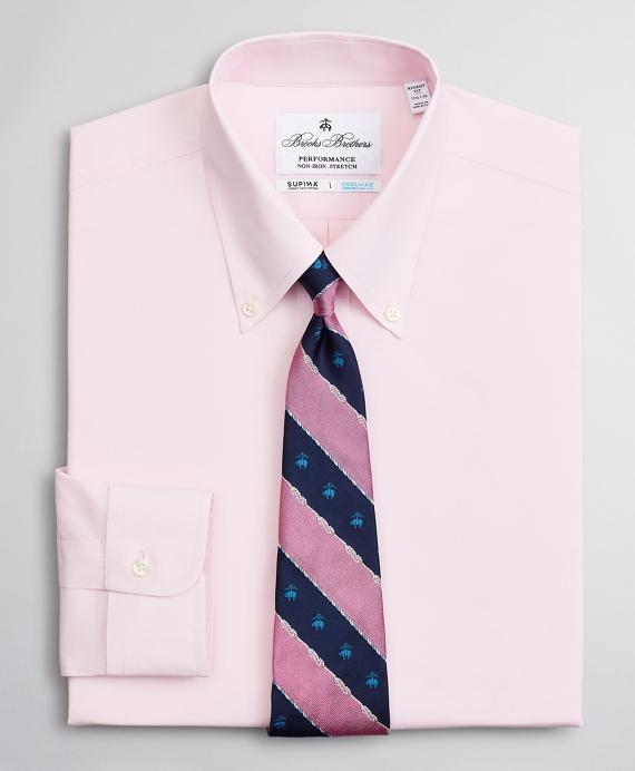 Regent Regular-Fit Dress Shirt, Performance Non-Iron with COOLMAX®, Button-Down Collar Twill Pink
