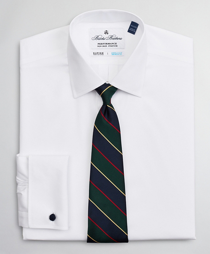 Big & Tall Dress Shirt, Performance Non-Iron with COOLMAX®, Ainsley Collar Twill French Cuff