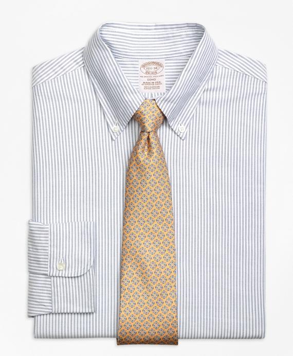 Original Polo® Button-Down Oxford Soho Extra-Slim-Fit Dress Shirt, Bengal Stripe Blue