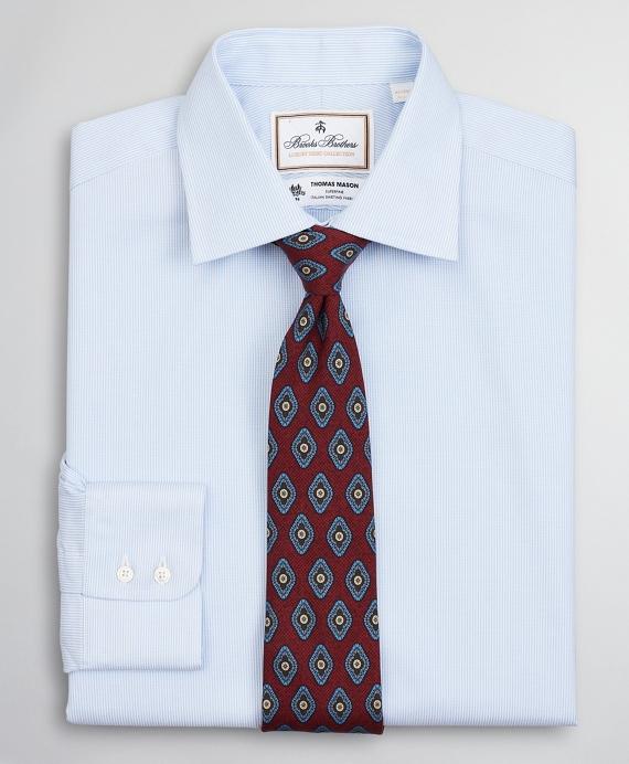 Luxury Collection Regent Regular-Fit Dress Shirt, Franklin Spread Collar Thick Stripe Blue