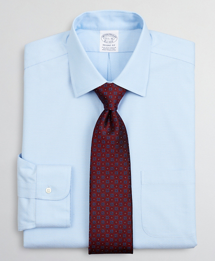 Brooksbrothers Stretch Regent Fitted Dress Shirt, Non-Iron Dobby Ainsley Collar Diamond