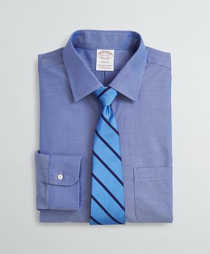 Brooksbrothers Stretch Soho Extra-Slim-Fit Dress Shirt, Non-Iron Dobby Ainsley Collar Diamond