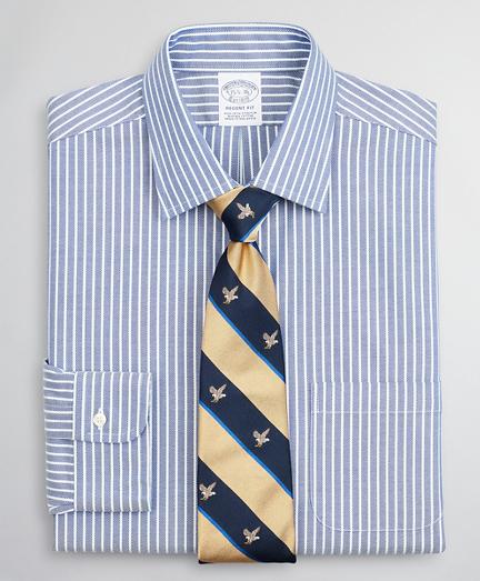 Stretch Regent Regular-Fit Dress Shirt, Non-Iron Dobby Ainsley Collar Stripe