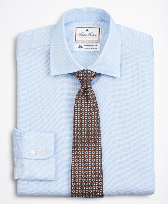 Luxury Collection Milano Slim-Fit Dress Shirt, Franklin Spread Collar Textured Blue