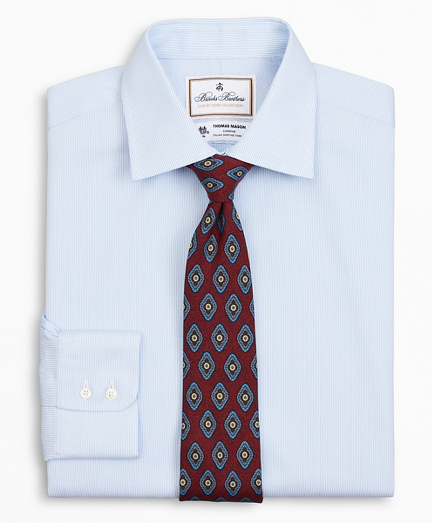 Luxury Collection Milano Slim-Fit Dress Shirt, Franklin Spread Collar Thick Stripe
