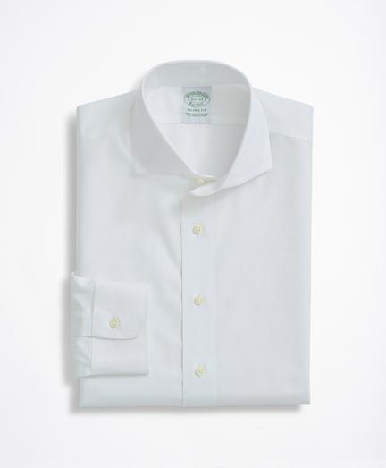 Milano Slim-Fit Dress Shirt, Non-Iron Pinpoint English Collar