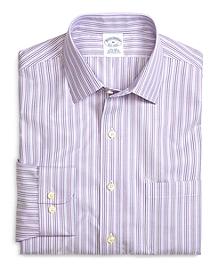 Supima® Cotton Non-Iron Slim Fit Lavender Stripe Twill Sport Shirt