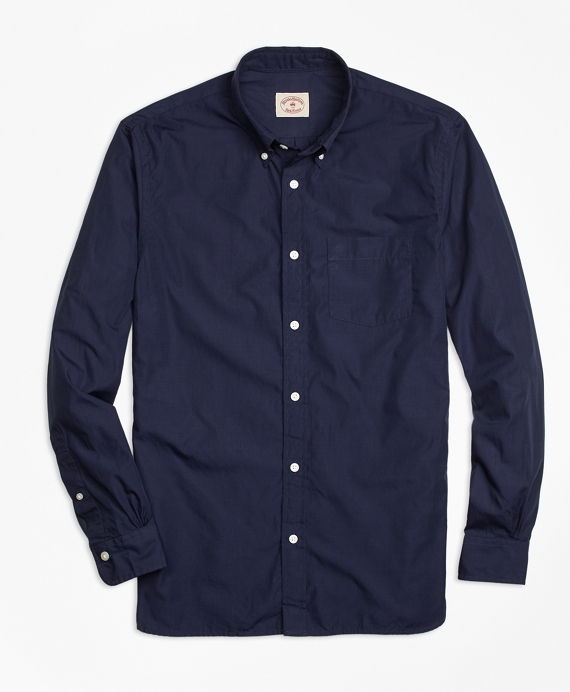 Solid Navy End-on-End Sport Shirt Navy