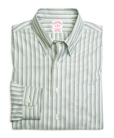 Madison Relaxed-Fit Sport Shirt, Supima® Cotton Non-Iron Tonal Stripe Twill