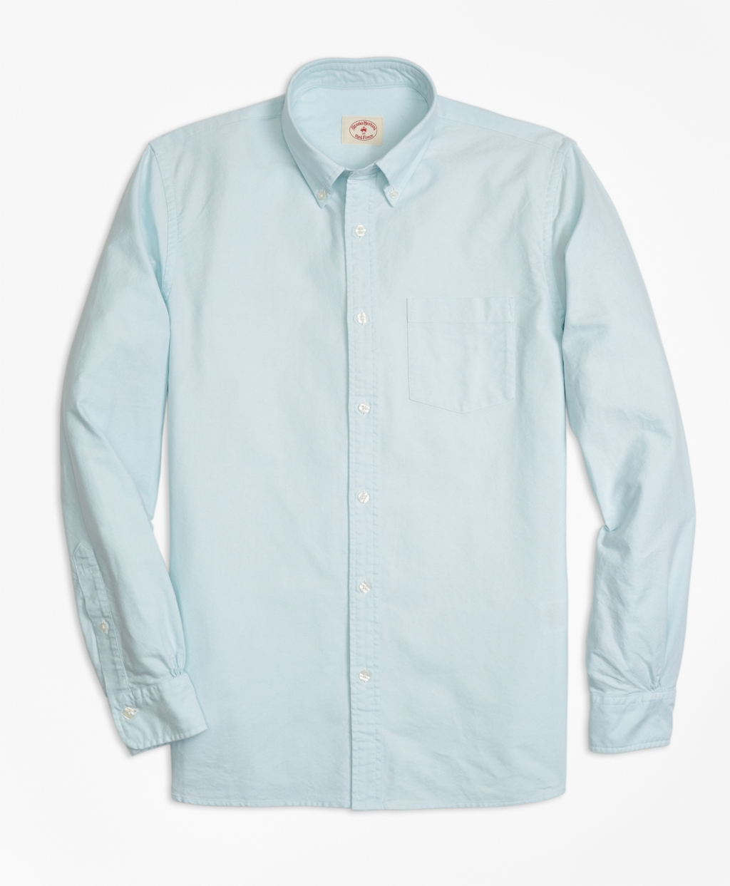 Mens Solid Oxford Sport Shirt Brooks Brothers
