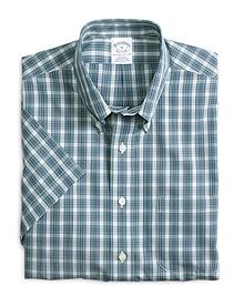 Non-Iron Slim Fit Check Short-Sleeve Sport Shirt