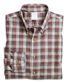 Non-Iron Slim Fit Plaid Sport Shirt