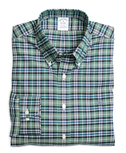 Non-Iron Slim Fit Green Sport Shirt