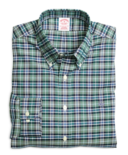 Non-Iron Regular Fit Green Sport Shirt