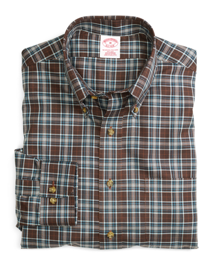 Non-Iron Regular Fit Plaid Sport Shirt