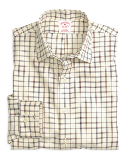 Non-Iron Regular Fit Windowpane  Sport Shirt