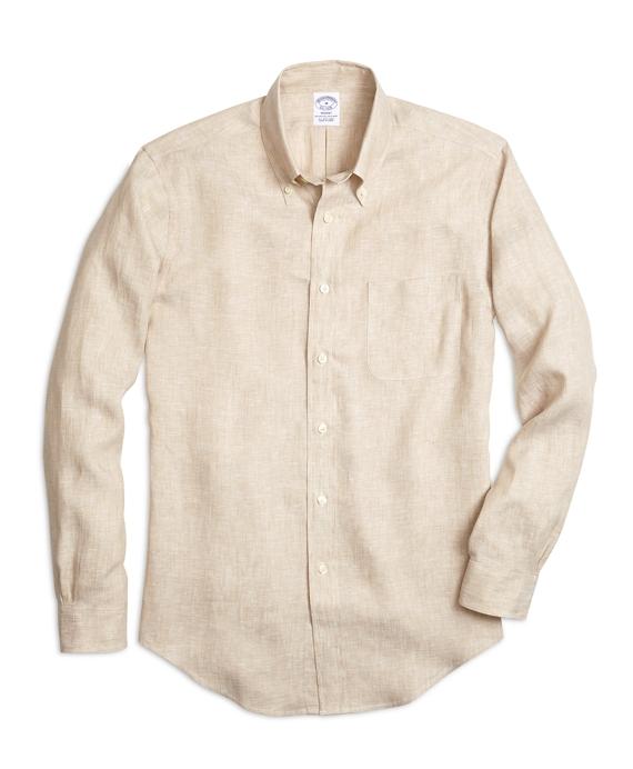 Regent Fit Linen Sport Shirt Tan
