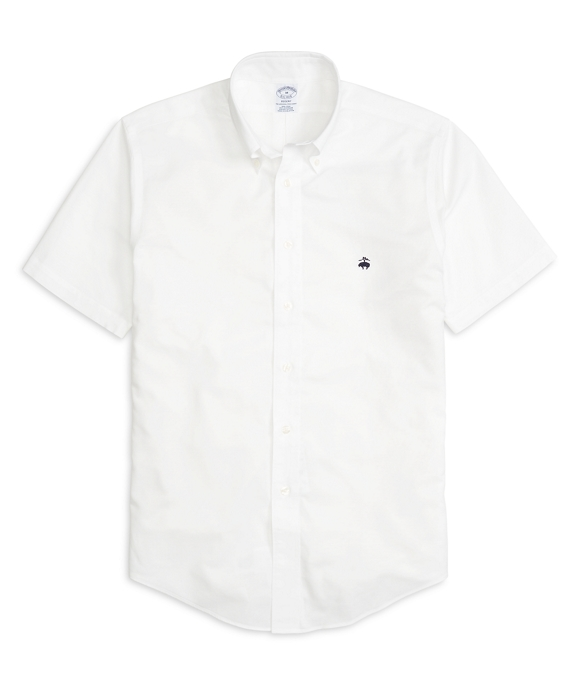 Non-Iron Regent Fit Oxford Short-Sleeve Sport Shirt White