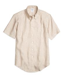 Regent Fit Linen Short-Sleeve Sport Shirt
