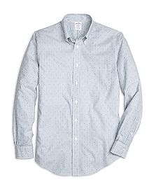 Regent Fit Stripe with Dot Print Sport Shirt