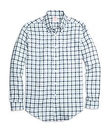 Madison Fit Gingham Linen Sport Shirt