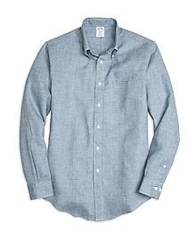Regent Fit Check Linen Sport Shirt