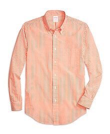 Madison Fit Seersucker Check  Sport Shirt